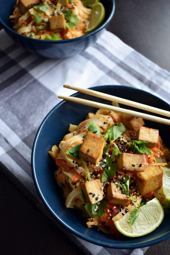 vegan pad thai su tofu